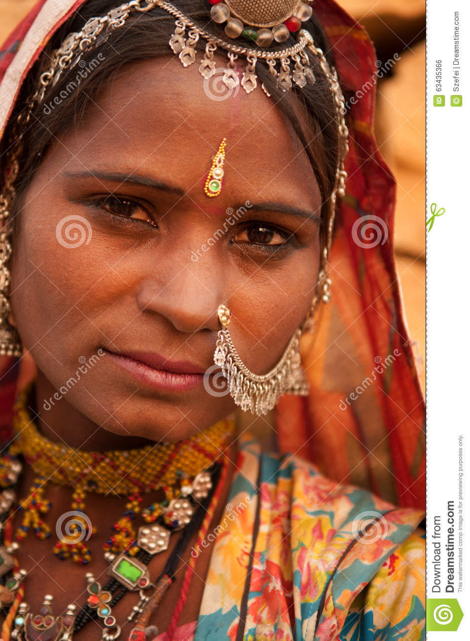 Portrait Of Traditional Indian Girl Stock Photo - Image ...