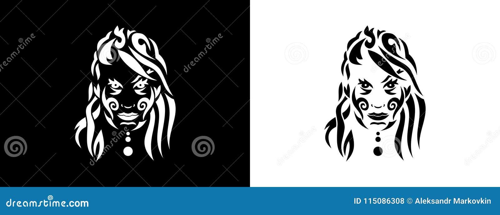 Portrait Tribal De Femme Portait De Femme Dans L