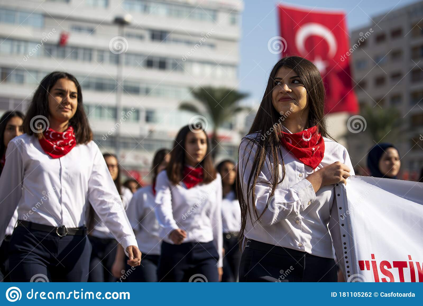 Portrait Of Turkish Young Woman Editorial Photography Image Of Izmir Nation 181105262