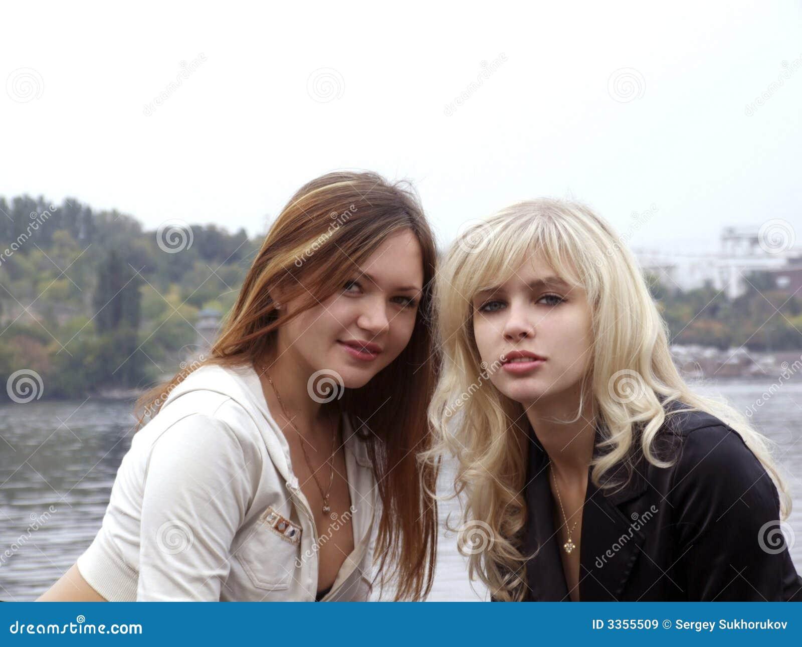 Portrait of two beautiful girl