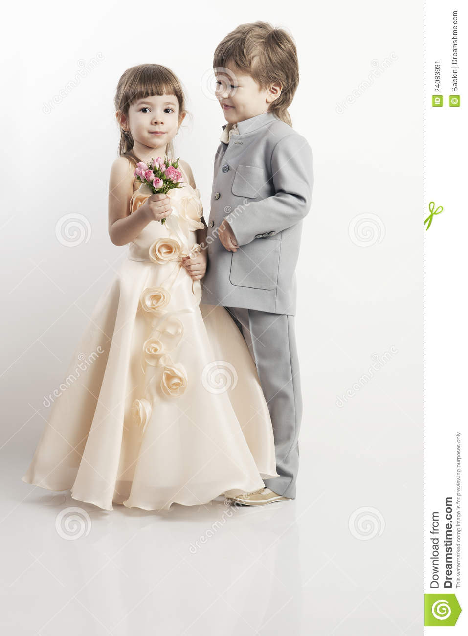 32517f611 Portrait Of Two Beautiful Little Boy And Girl Stock Image - Image of ...