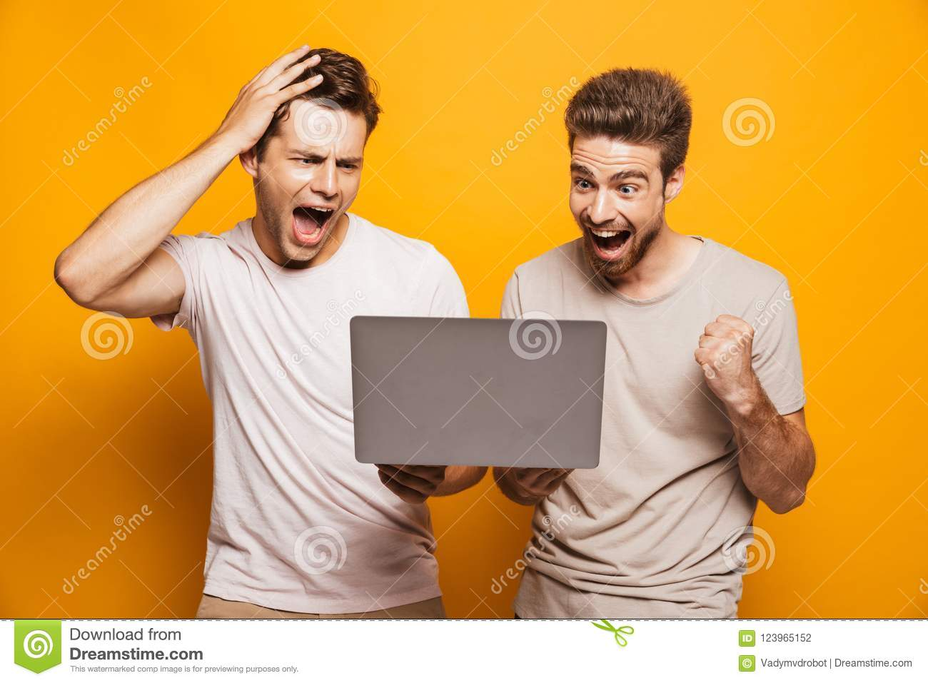 Two excited men