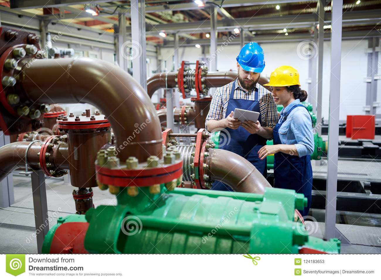 Workers in Purification System