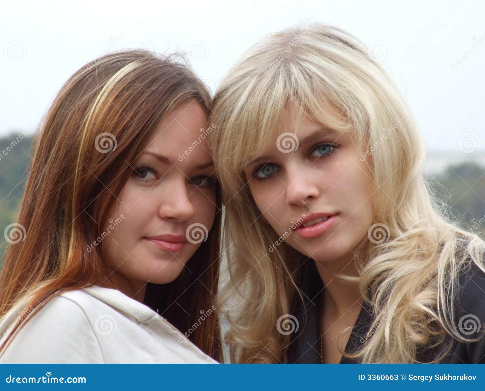 Portrait of two girls 2
