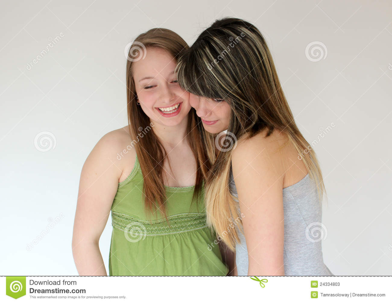 Portrait Of Two Teen Girls Stock Photos Image 24334803