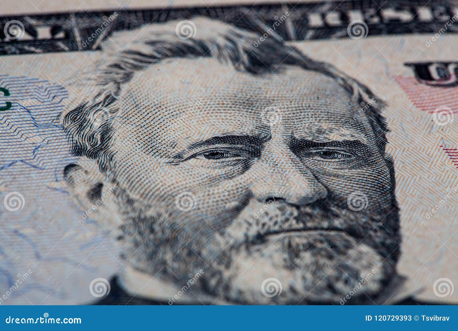 Portrait Ulysses-S Grant-Porträt auf 50 Dollarschein