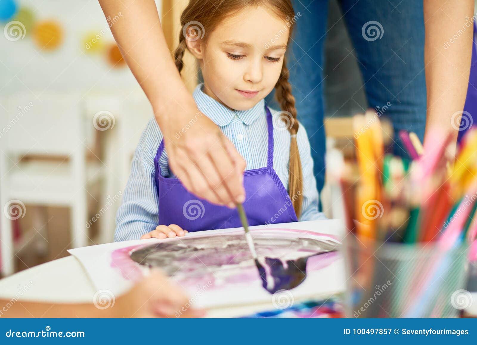 Little Girl in Art Class