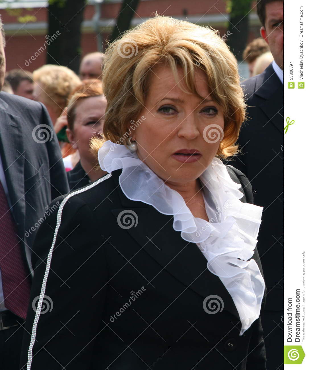 Portrait of Valentina Matvienko, one of the most famous contemporary female politicians.