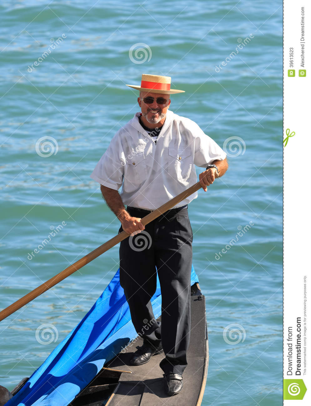 Portrait Of A Venetian Gondolier, Venice - Italy Editorial Stock Photo ...