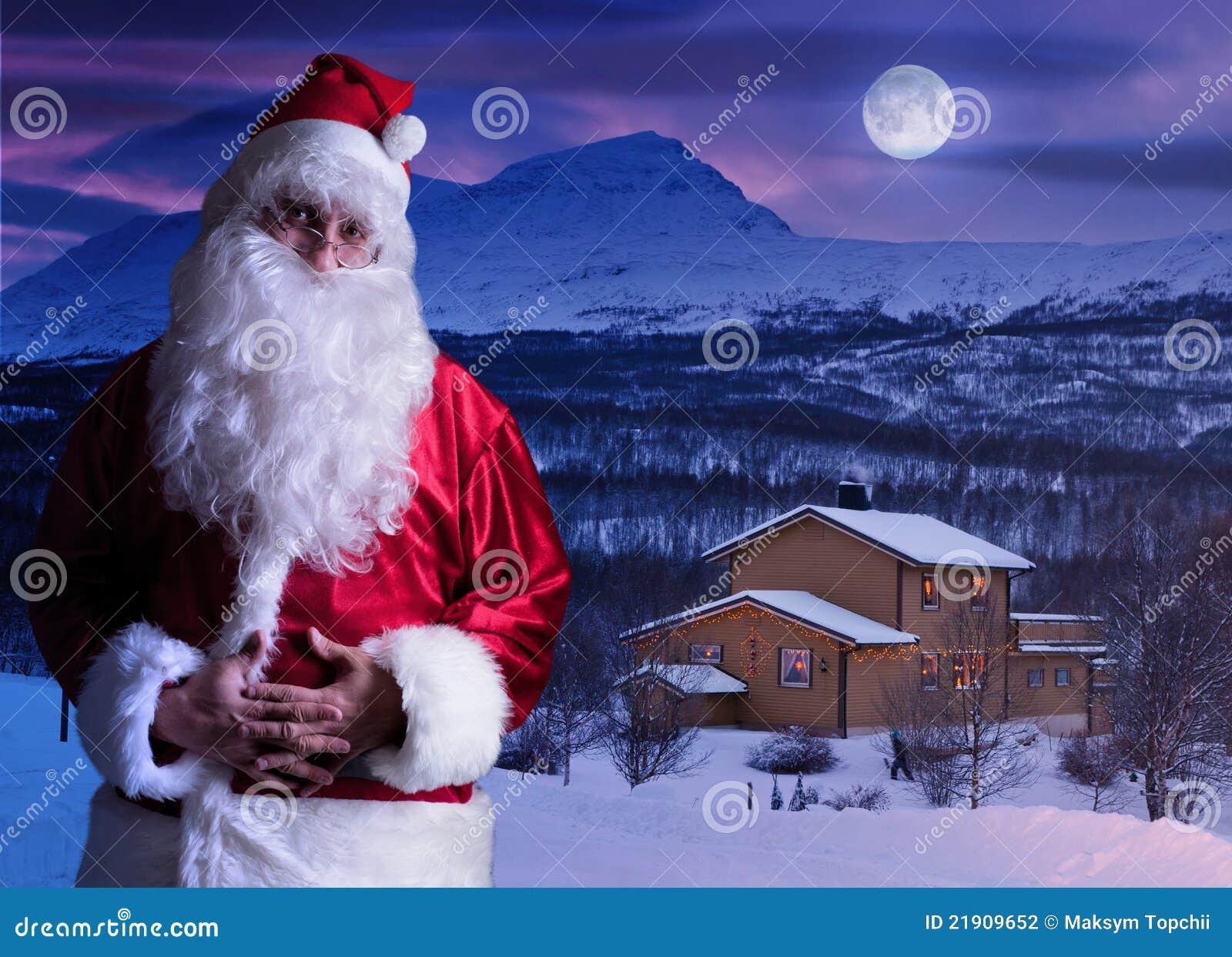 portrait von weihnachtsmann beim nordpol stockfoto bild. Black Bedroom Furniture Sets. Home Design Ideas