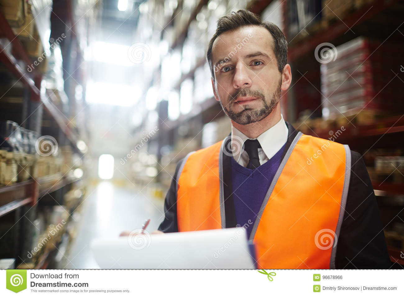 Portrait of Warehouse Manager