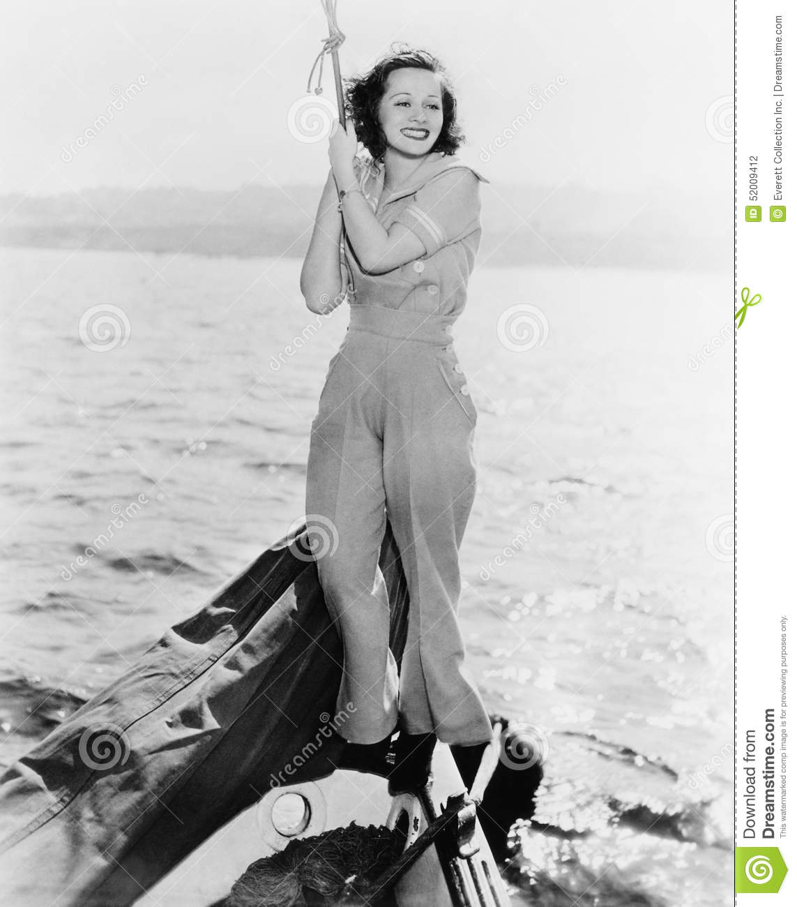 Portrait of woman on boat