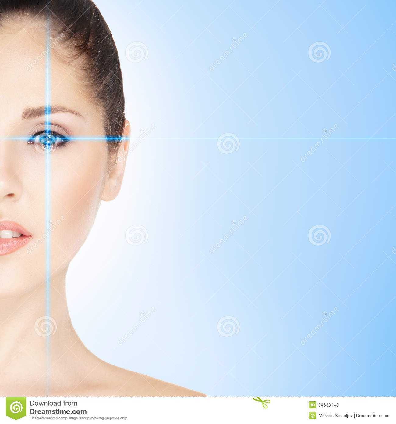 Portrait Of A Woman On An Eye Surgery Stock Image