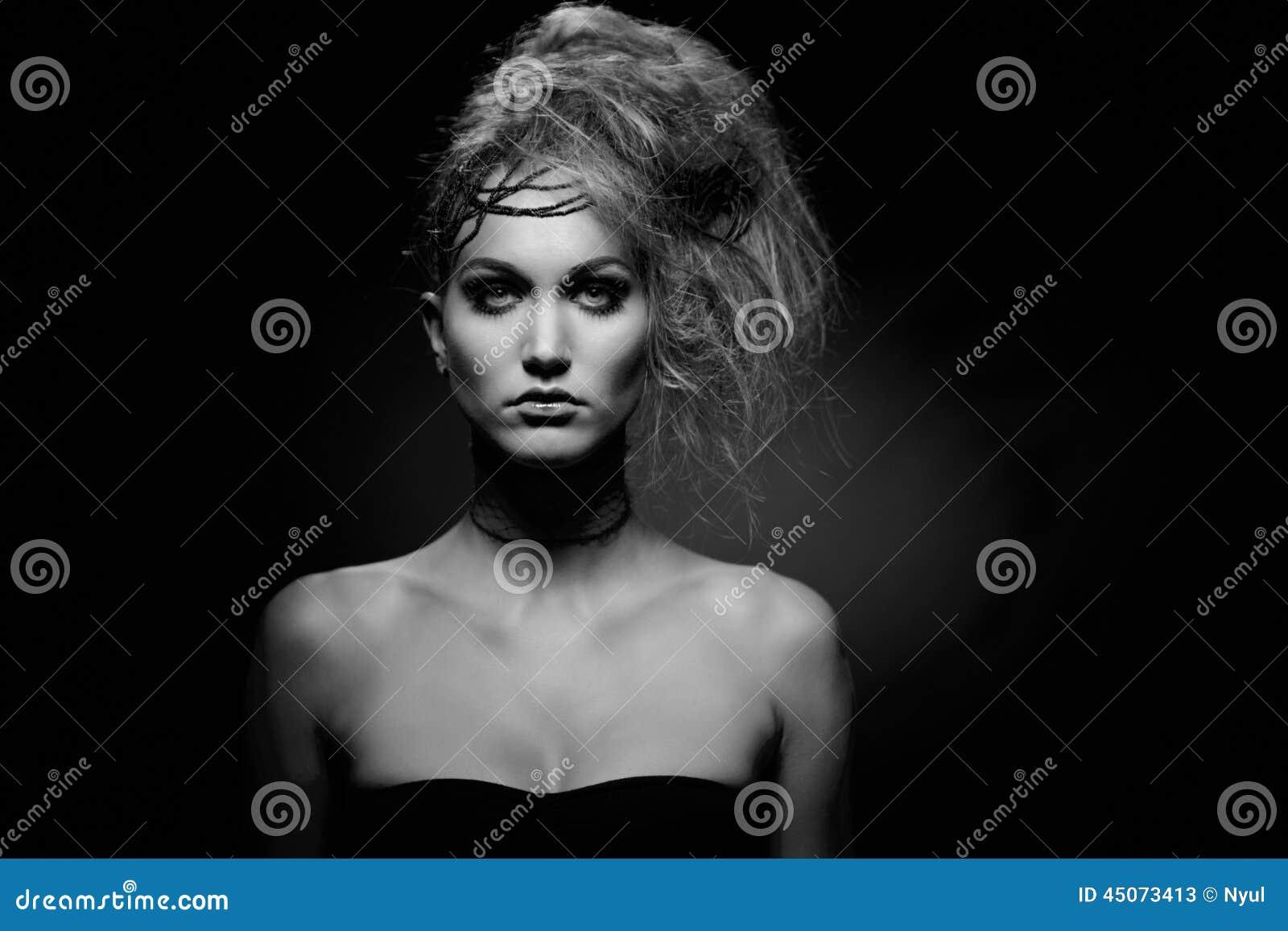 Portrait of woman in halloween makeup