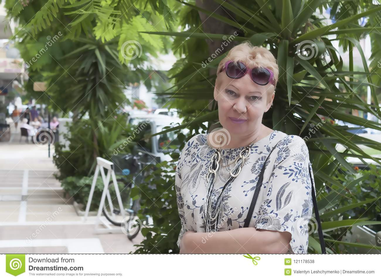 Portrait Of A Woman Of Mature Age Stock Photo Image Of Fashion