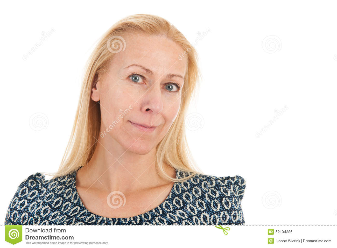 Portrait Woman Mature Age Stock Photo Image Of Healthy 52104386