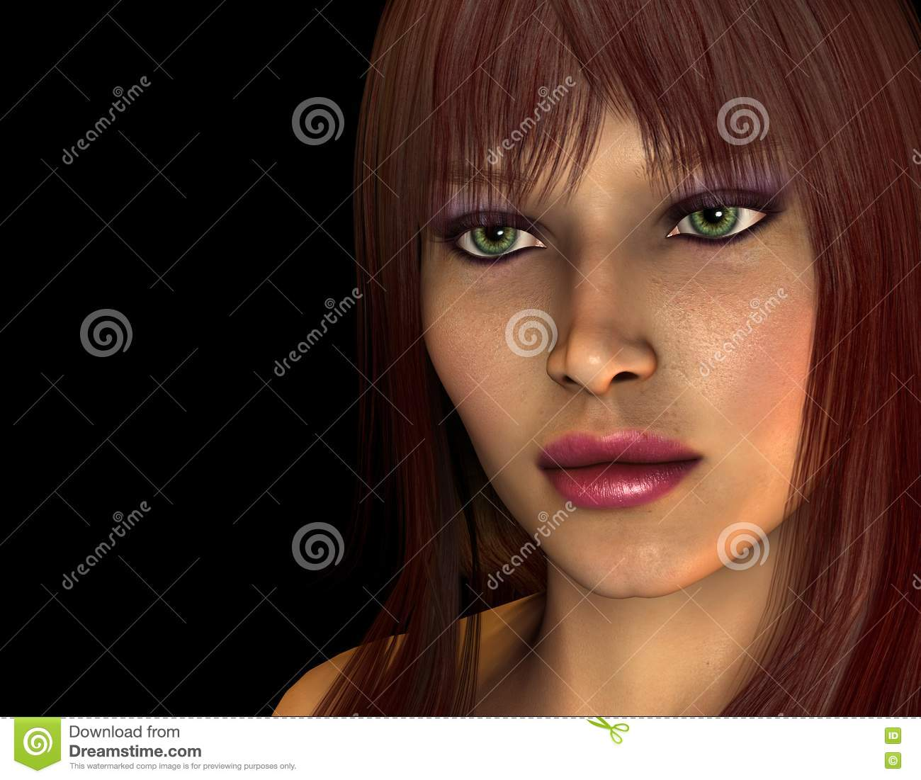 Reddish Brown Hair Color On Black Women Portrait of woman with reddish