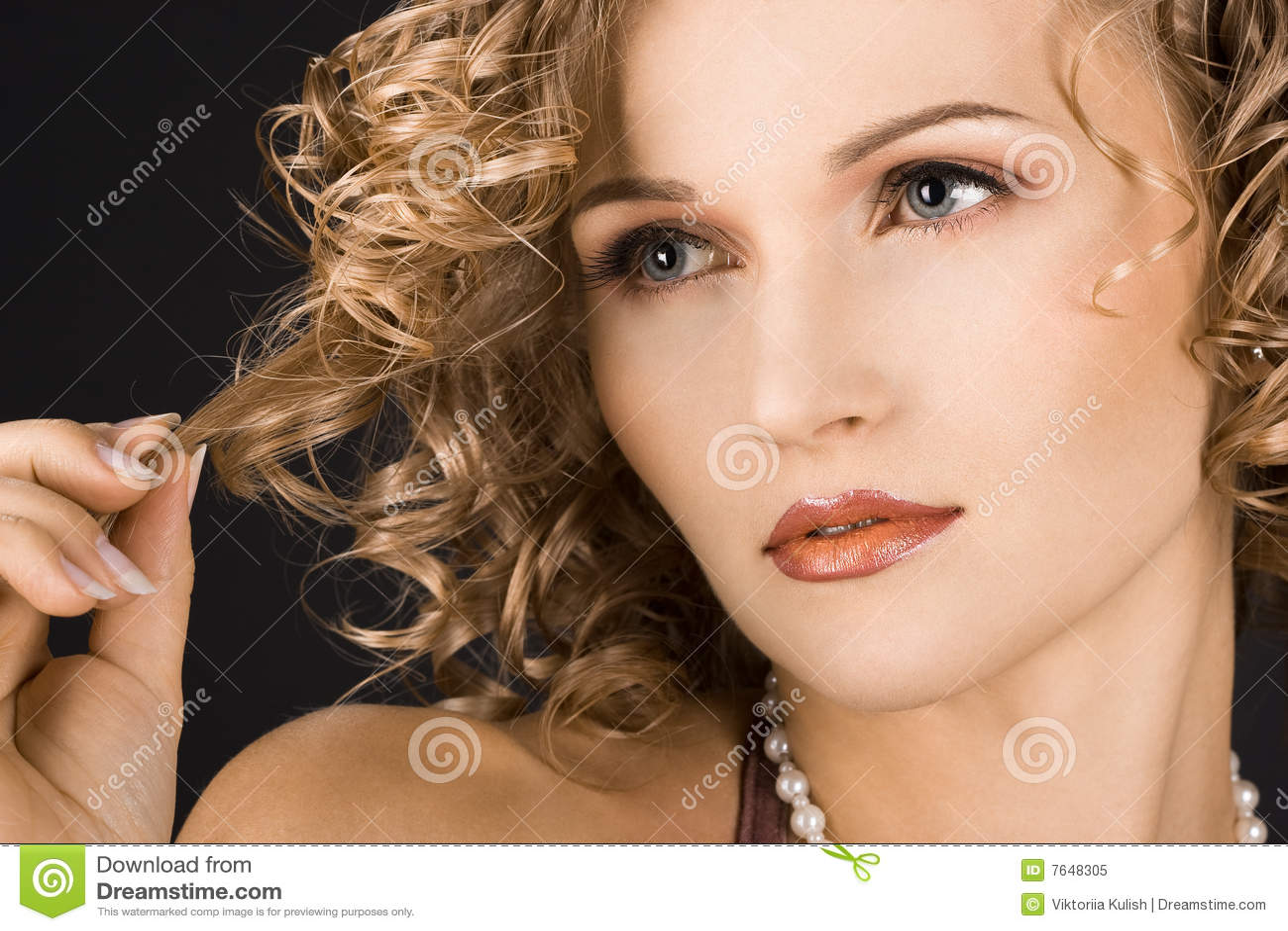 Portrait of wonderful woman