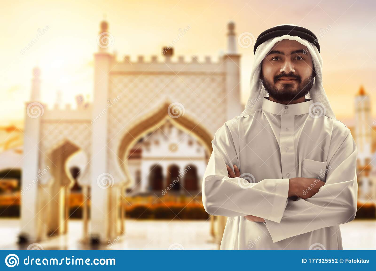 Portrait Of Young Arab Man At Baiturrahman Grand Mosque Banda Aceh Stock Photo Image Of Architecture Background 177325552
