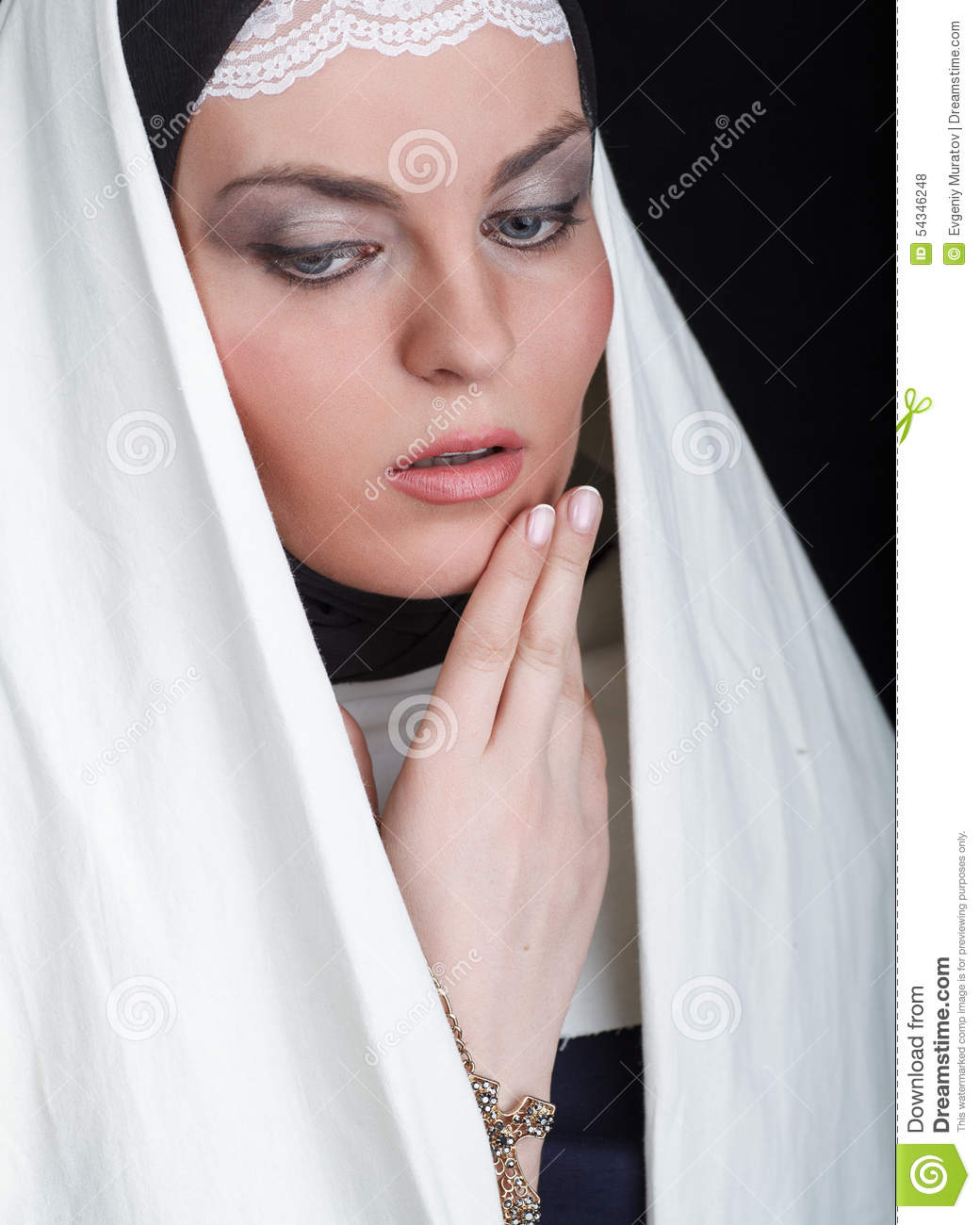 Portrait of the young beautiful nun