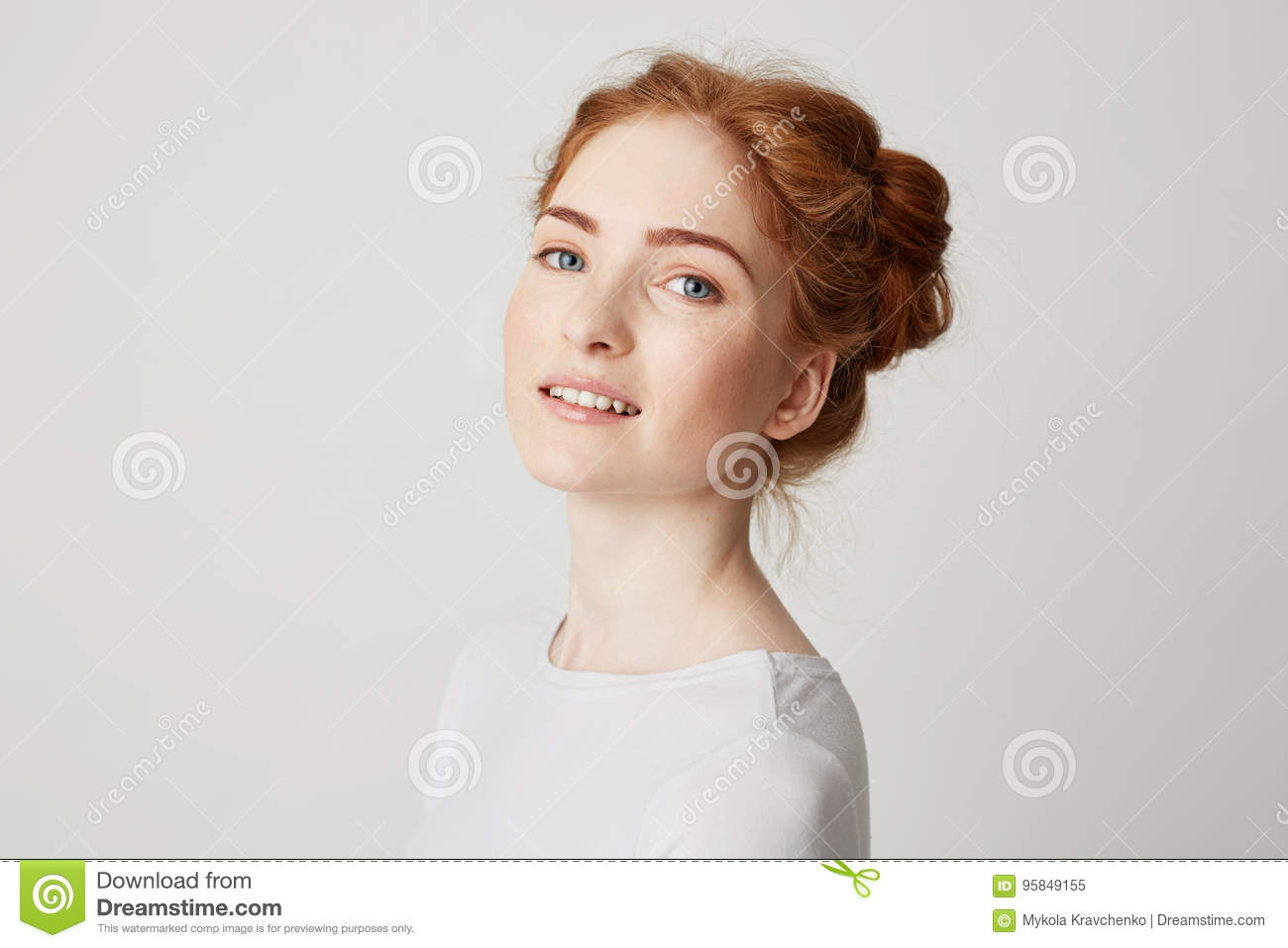 Beautiful redhead girls with freckles congratulate, your