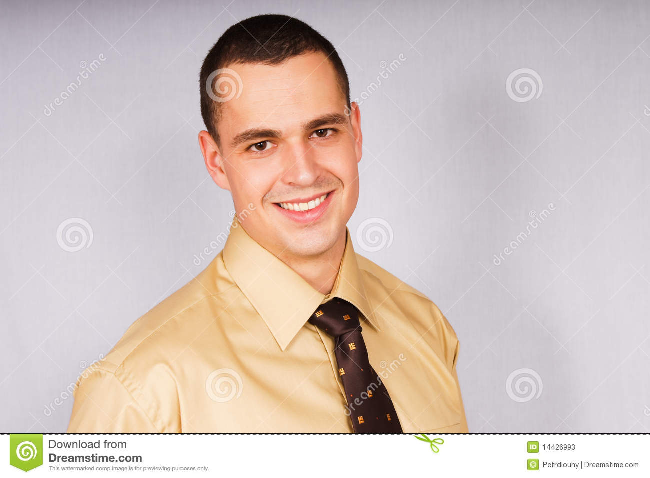Portrait of a young businessman in shirt