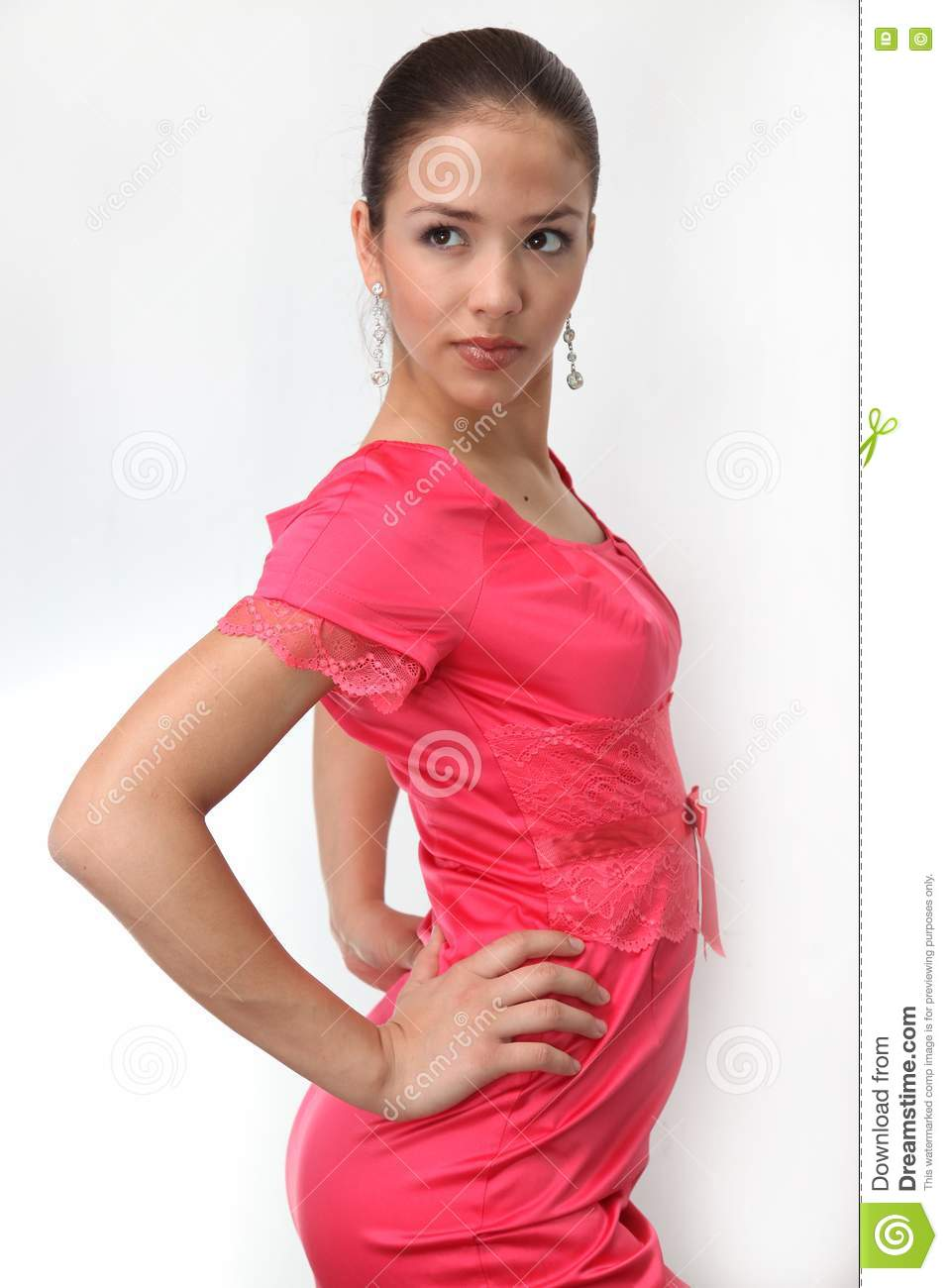 Portrait of young charming girl in red royalty free stock image image 10336686 - Charming teenage girls image ...