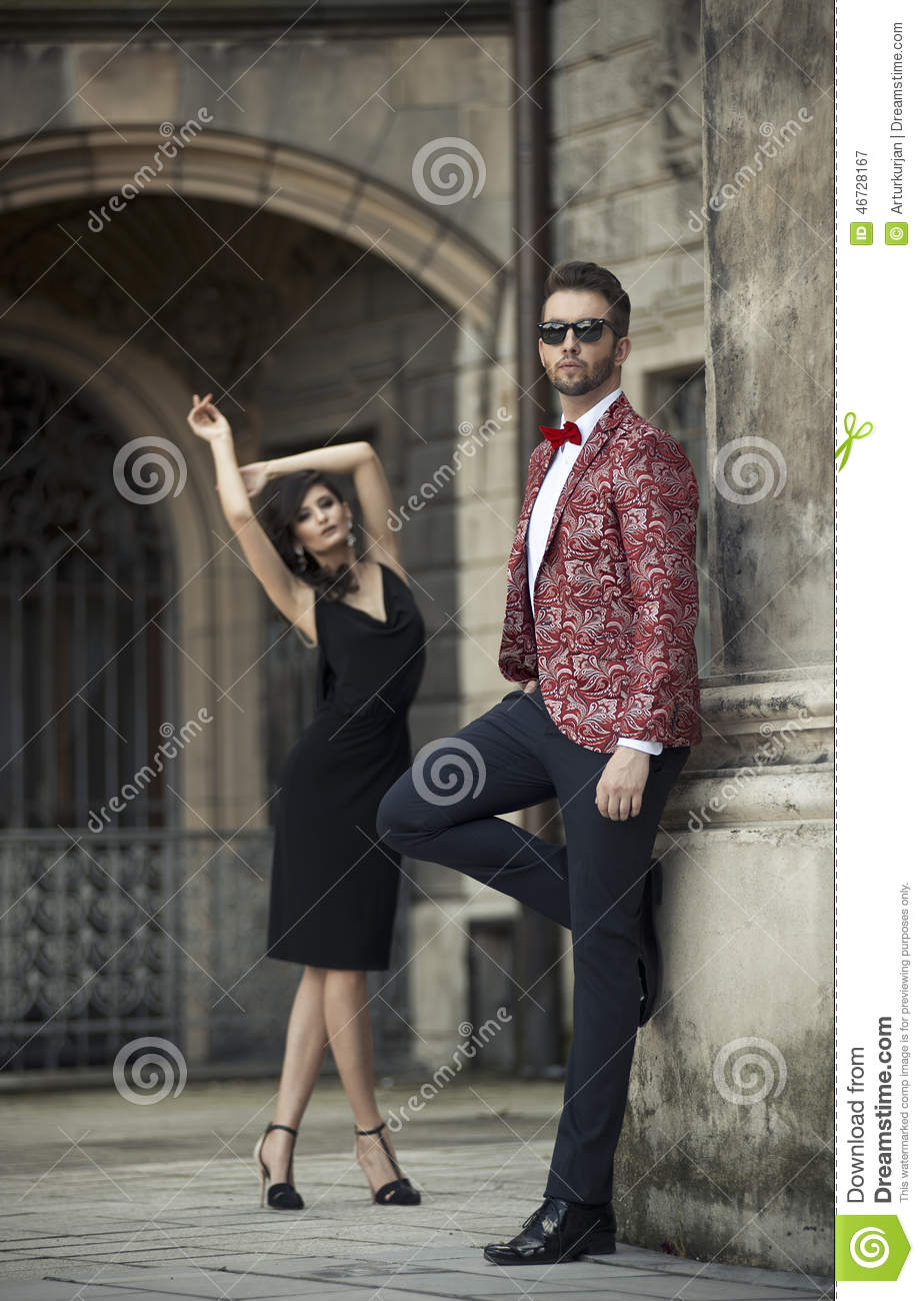 Stock Photo Portrait Young Elegant Couple Love Image46728167