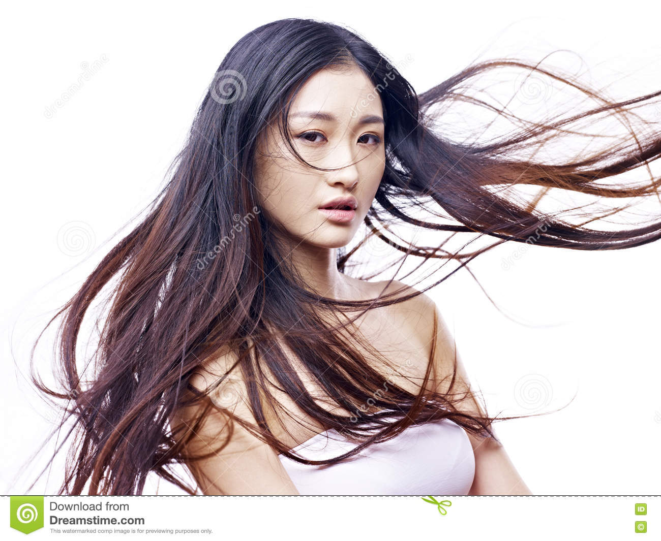 Portrait of a young female asian model
