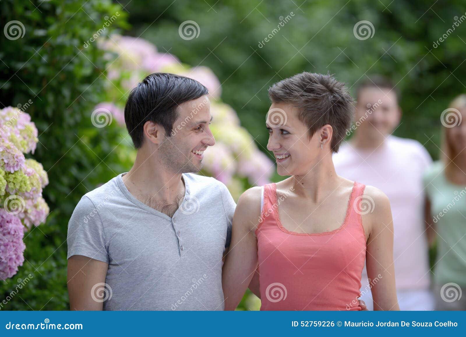 Portrait of a young heterosexual couple