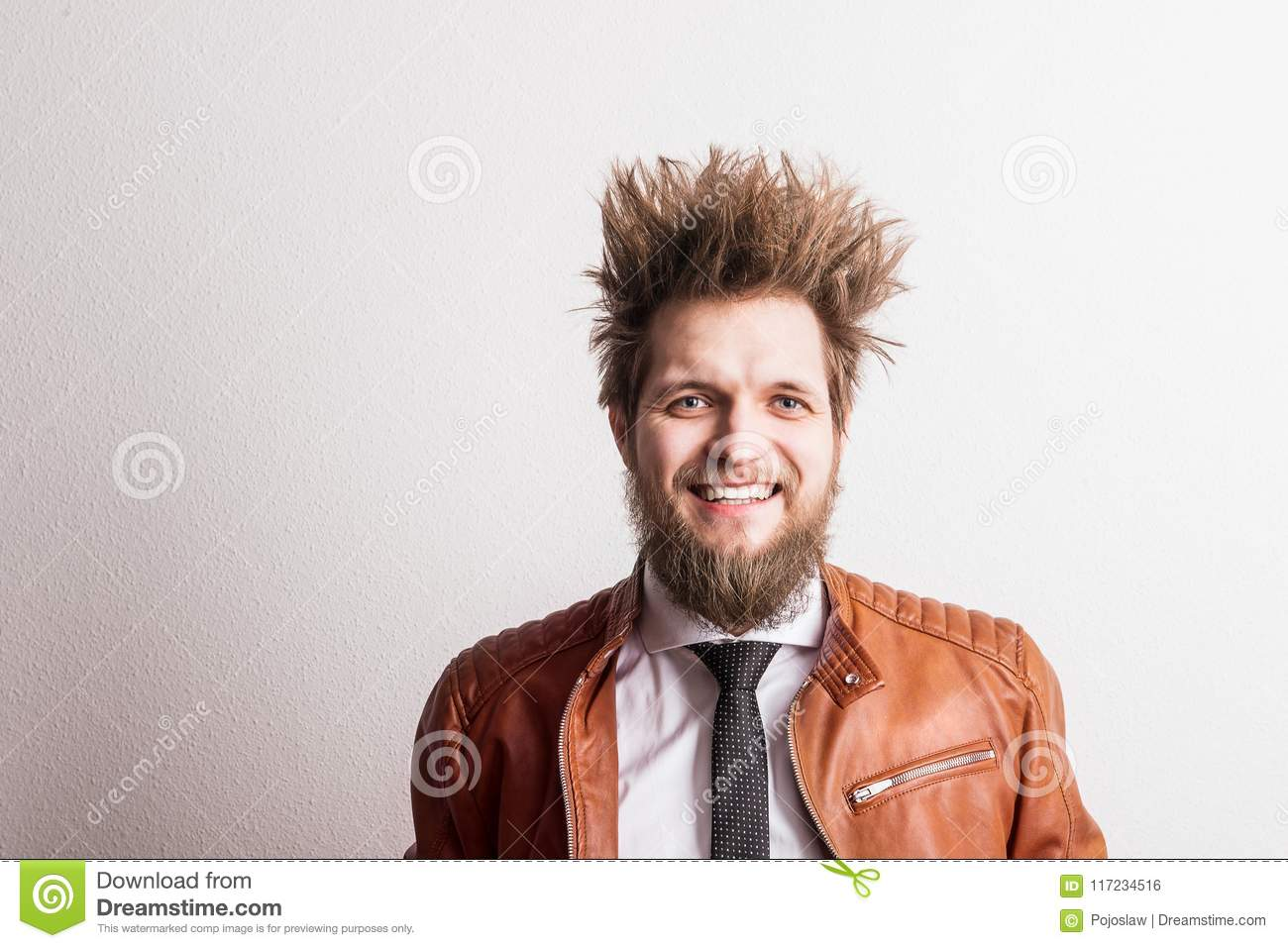 Magnificent Portrait Of A Young Hipster Man With Messy Hairstyle In A Studio Schematic Wiring Diagrams Amerangerunnerswayorg