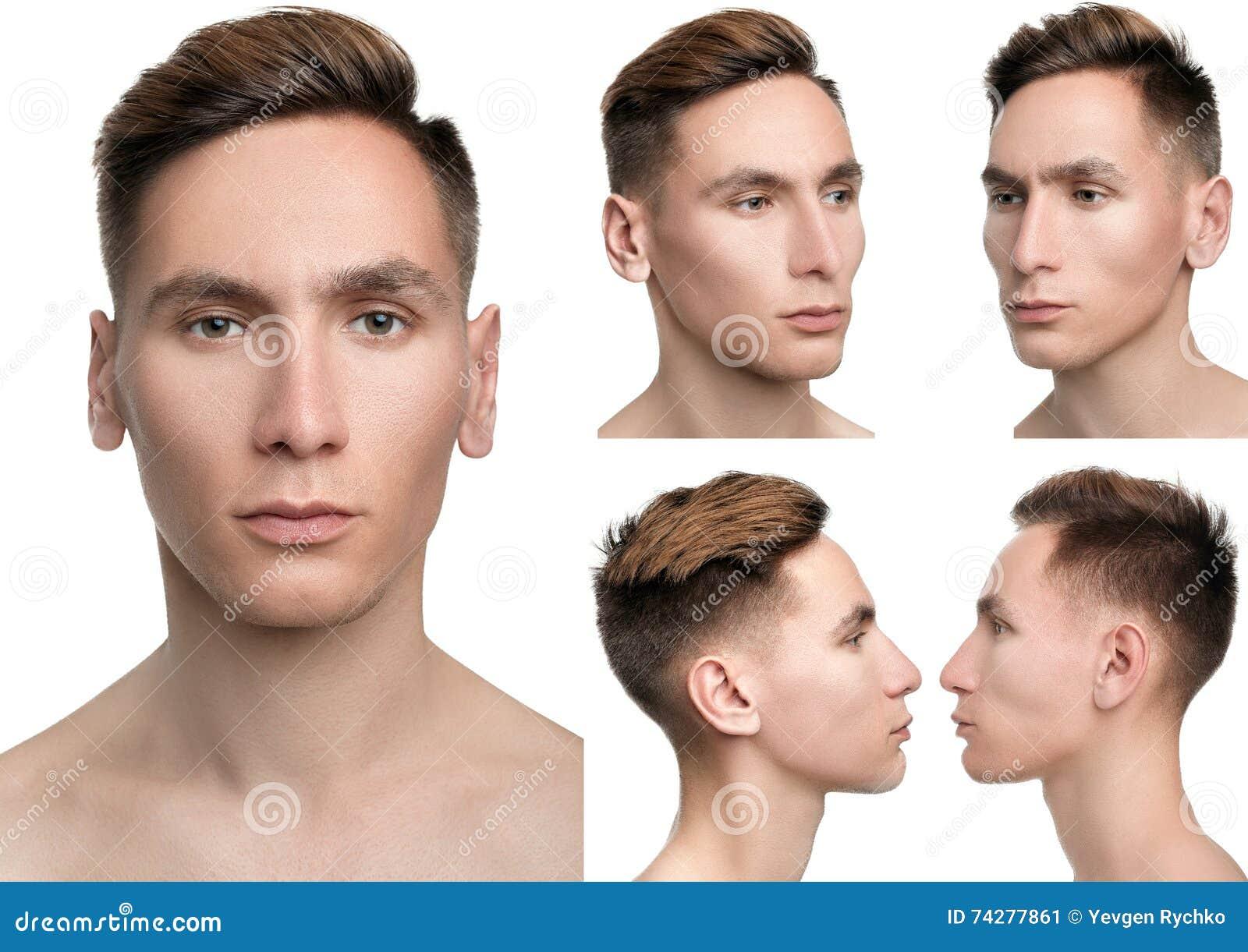 Five portrait facial angles photography