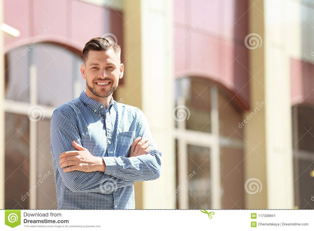 Portrait of young man in stylish outfit