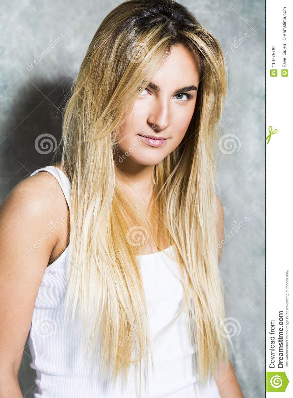 blonde Nude hair white