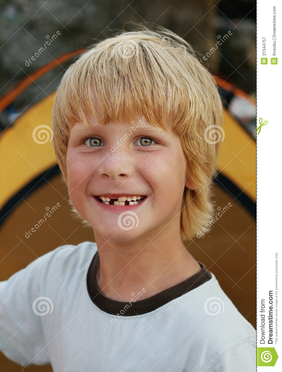 Portrait Of Young Smiling Boy Royalty Free Stock