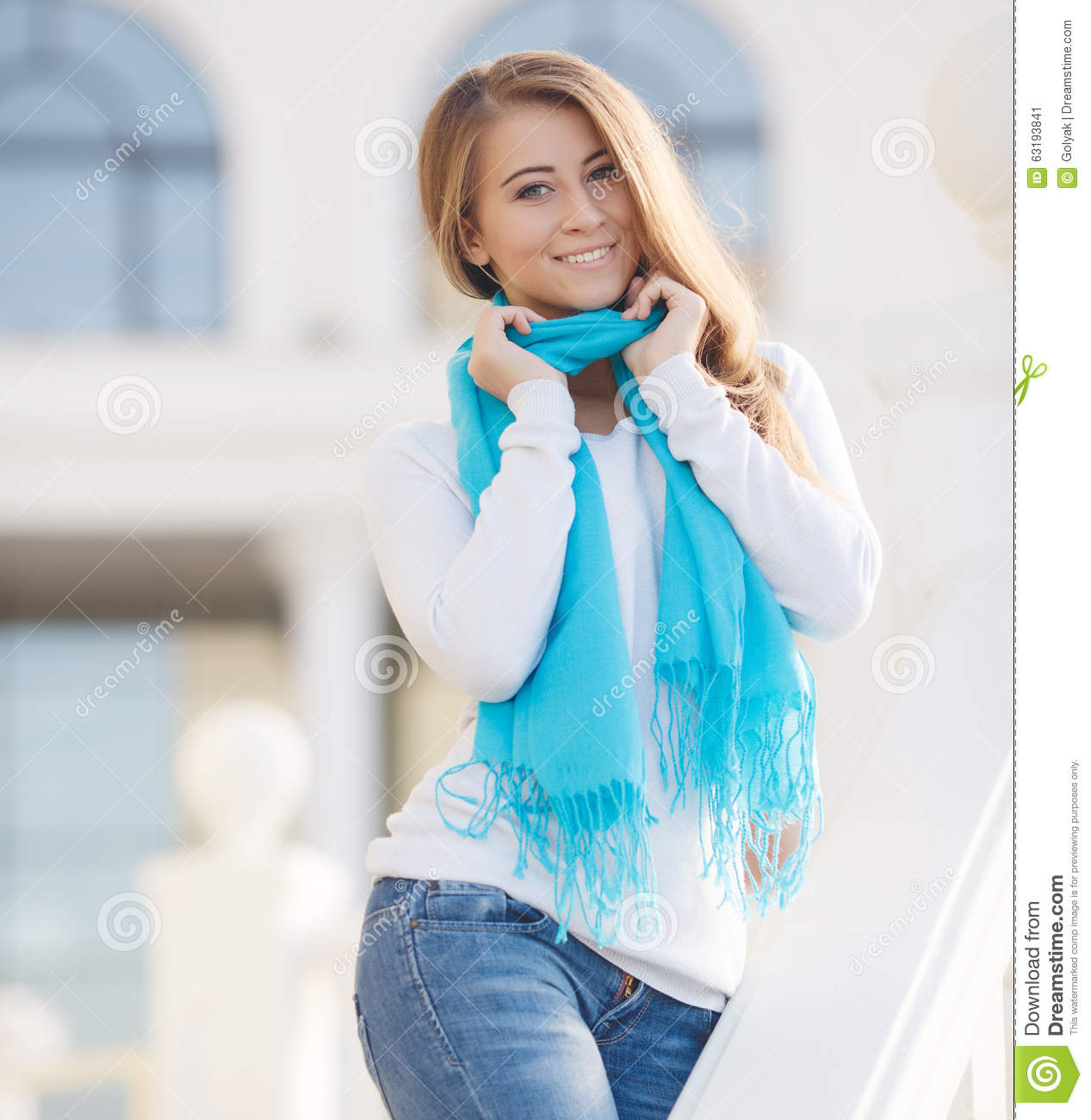 Such Gorgeous Colors And Softness: Portrait Of A Young Woman Outdoors In Autumn Stock Image