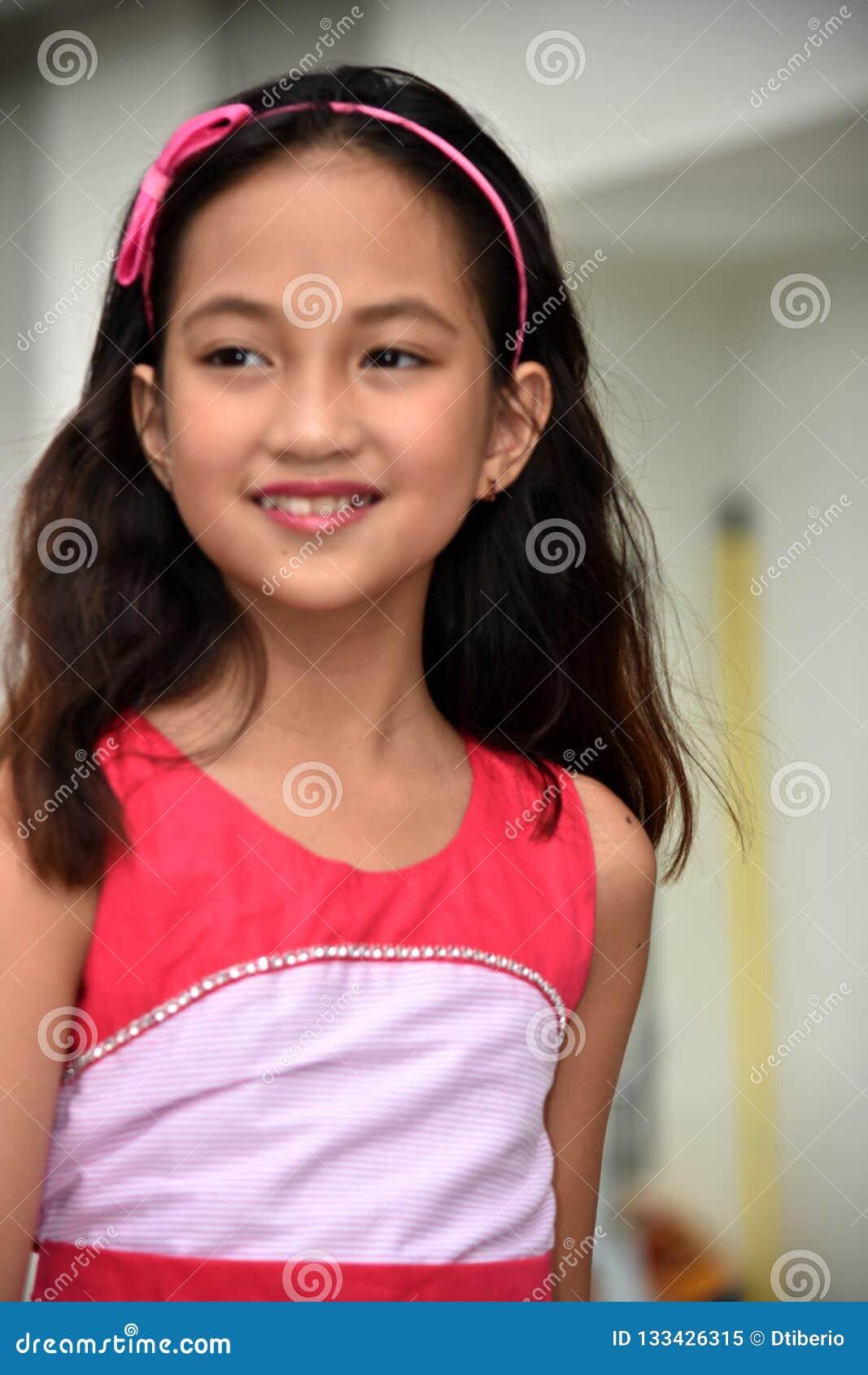 Portrait Of A Youthful Filipina Teenager Girl Stock Image