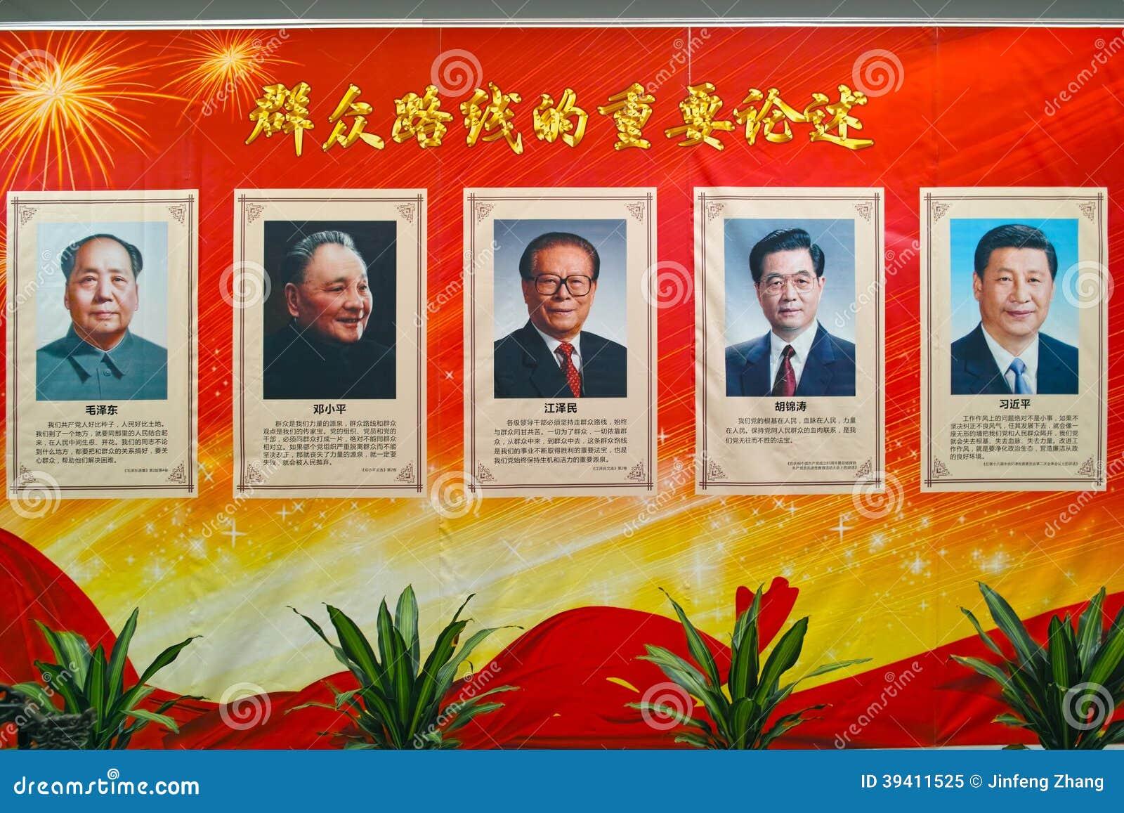 Portraits of China Communist leader