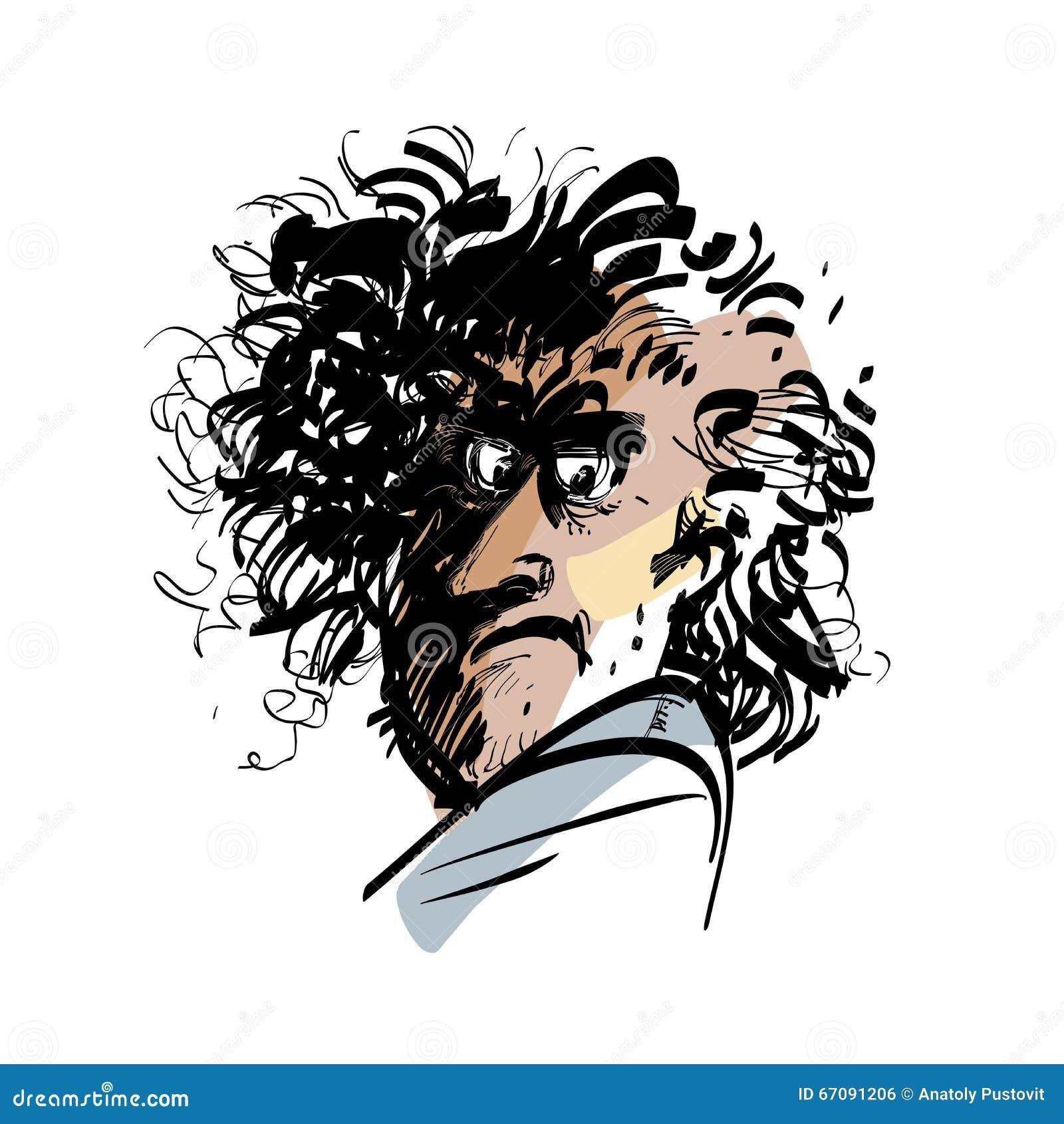 Portret śmieszny mężczyzna