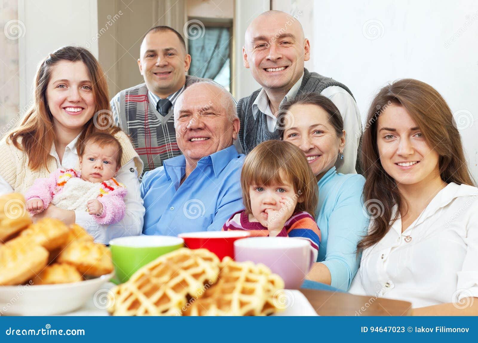 Portret ampuła trzy pokolenia rodzinnego