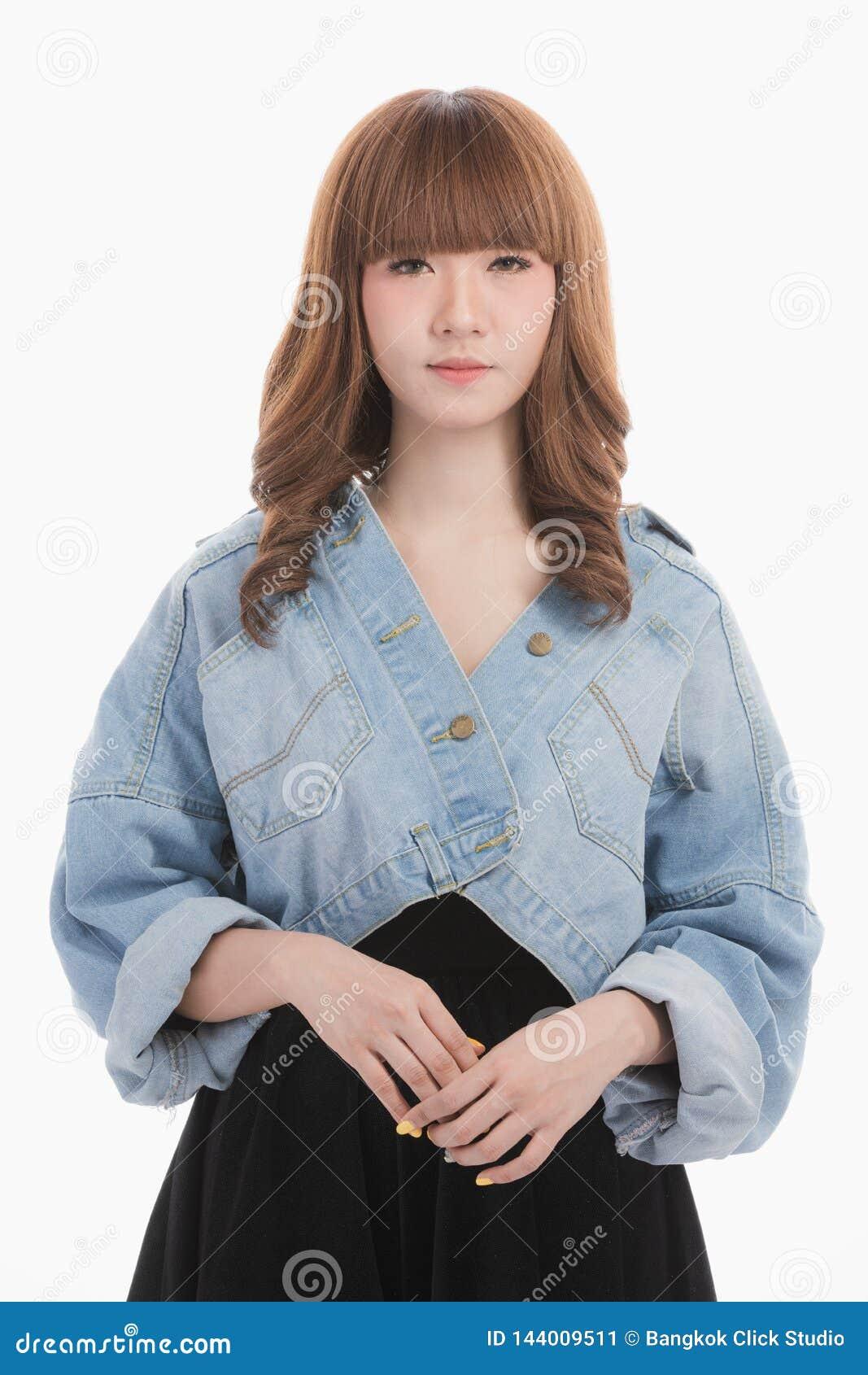 Portret Azjatycka kobieta