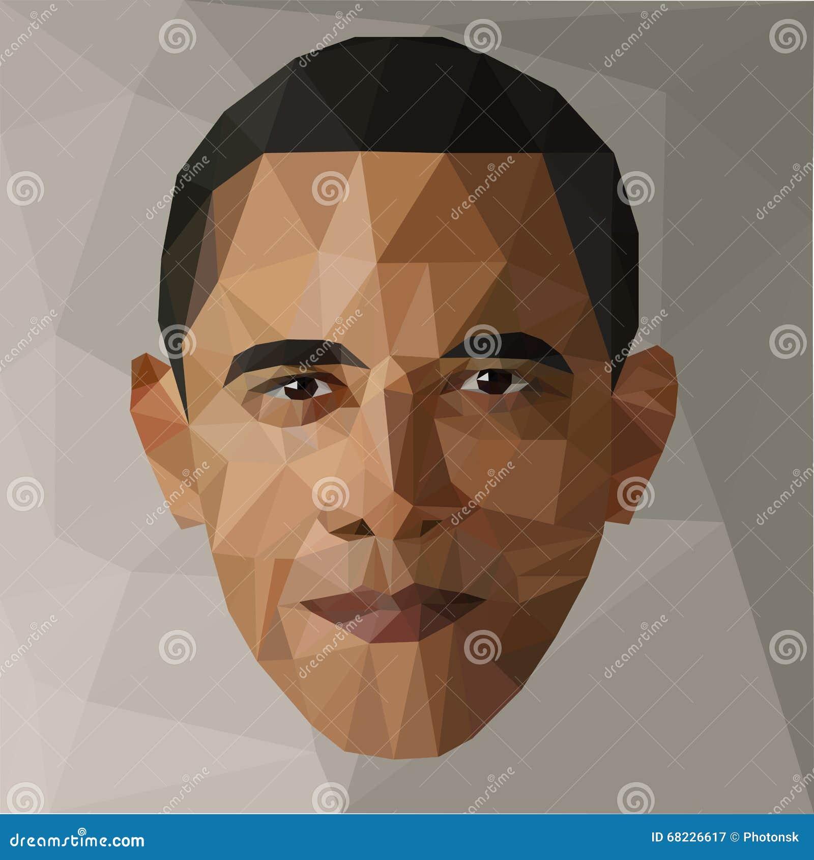 Portret Barack Obama U S prezydent niski poli- usa