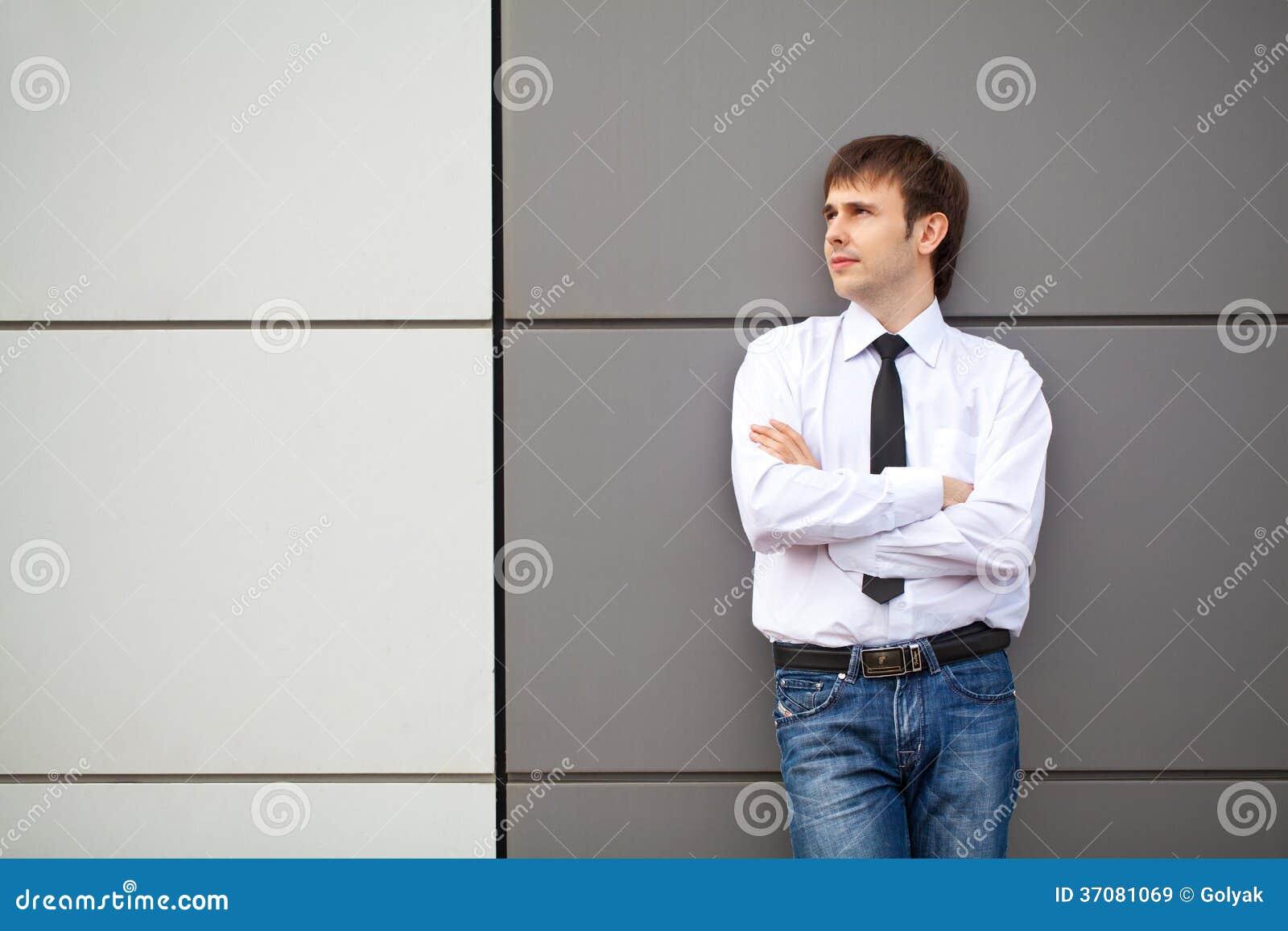 Download Portret Biznesowy Mężczyzna Obraz Stock - Obraz złożonej z kontemplacyjny, uważający: 37081069