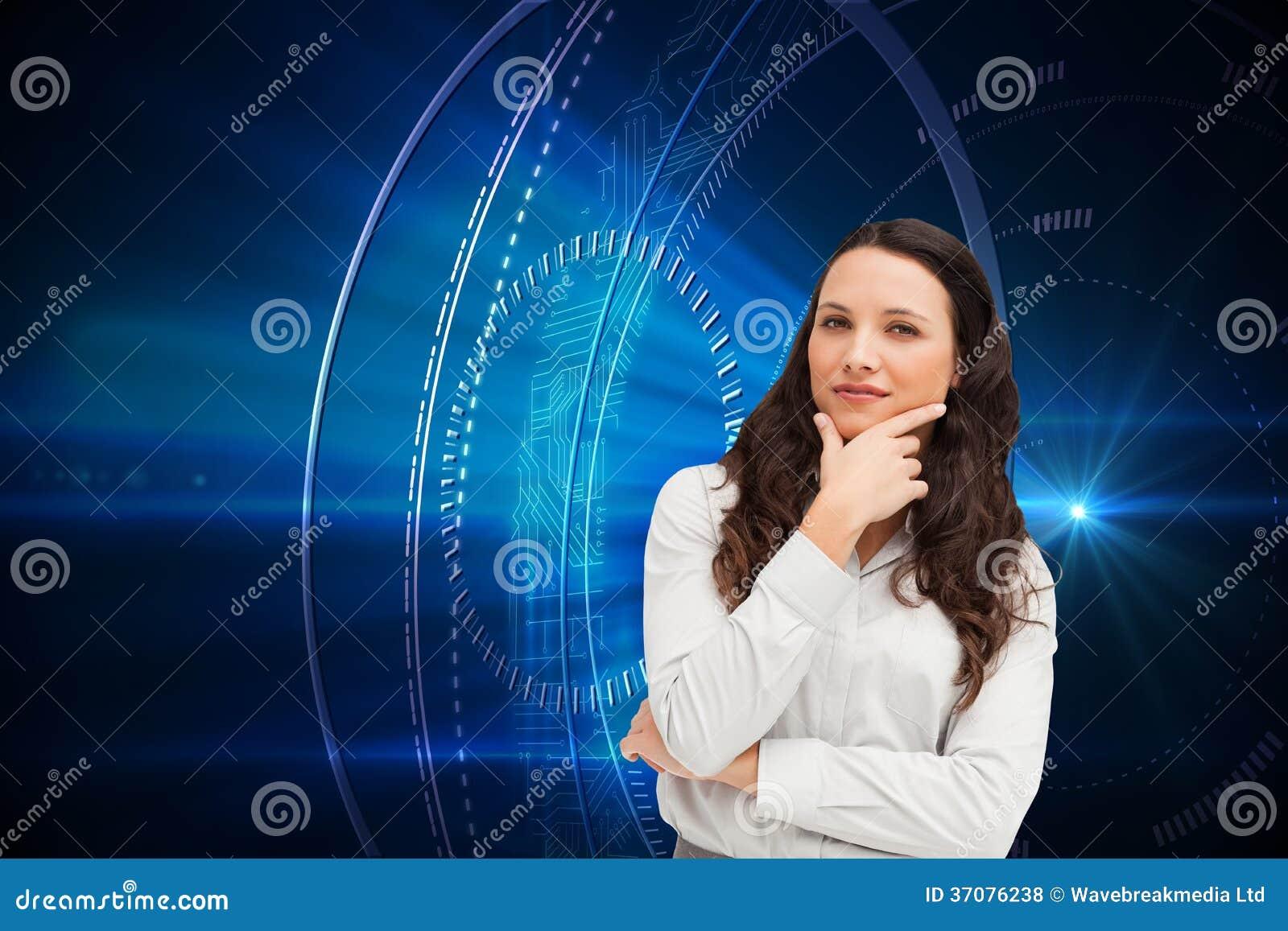 Download Portret Bizneswomanu Pozować Ilustracji - Ilustracja złożonej z shiners, shinny: 37076238