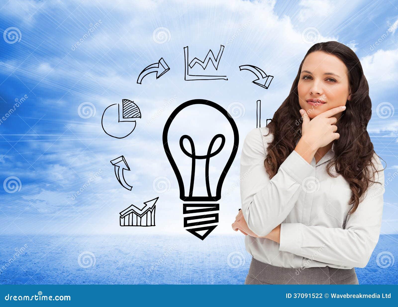 Download Portret Bizneswomanu Pozować Zdjęcie Stock - Obraz złożonej z innowacja, plan: 37091522