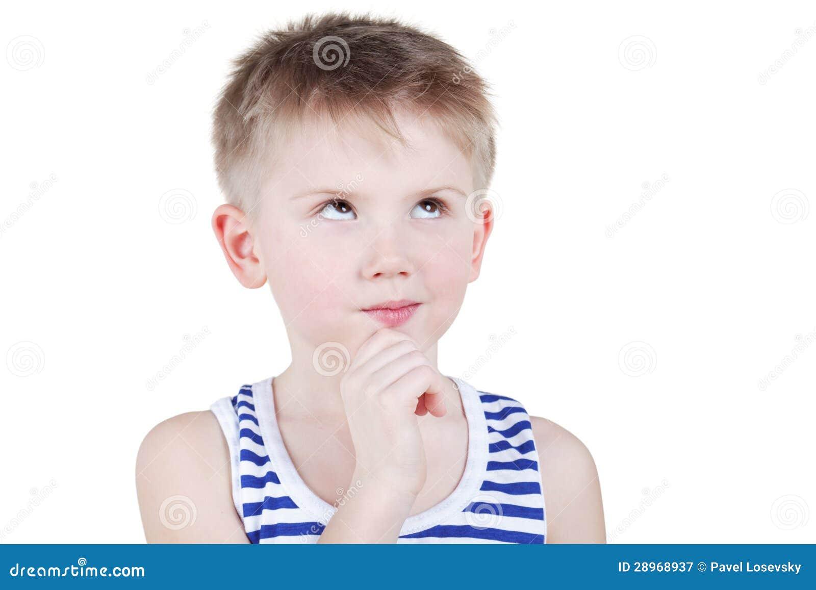 Portret chłopiec w pasiastym singlet