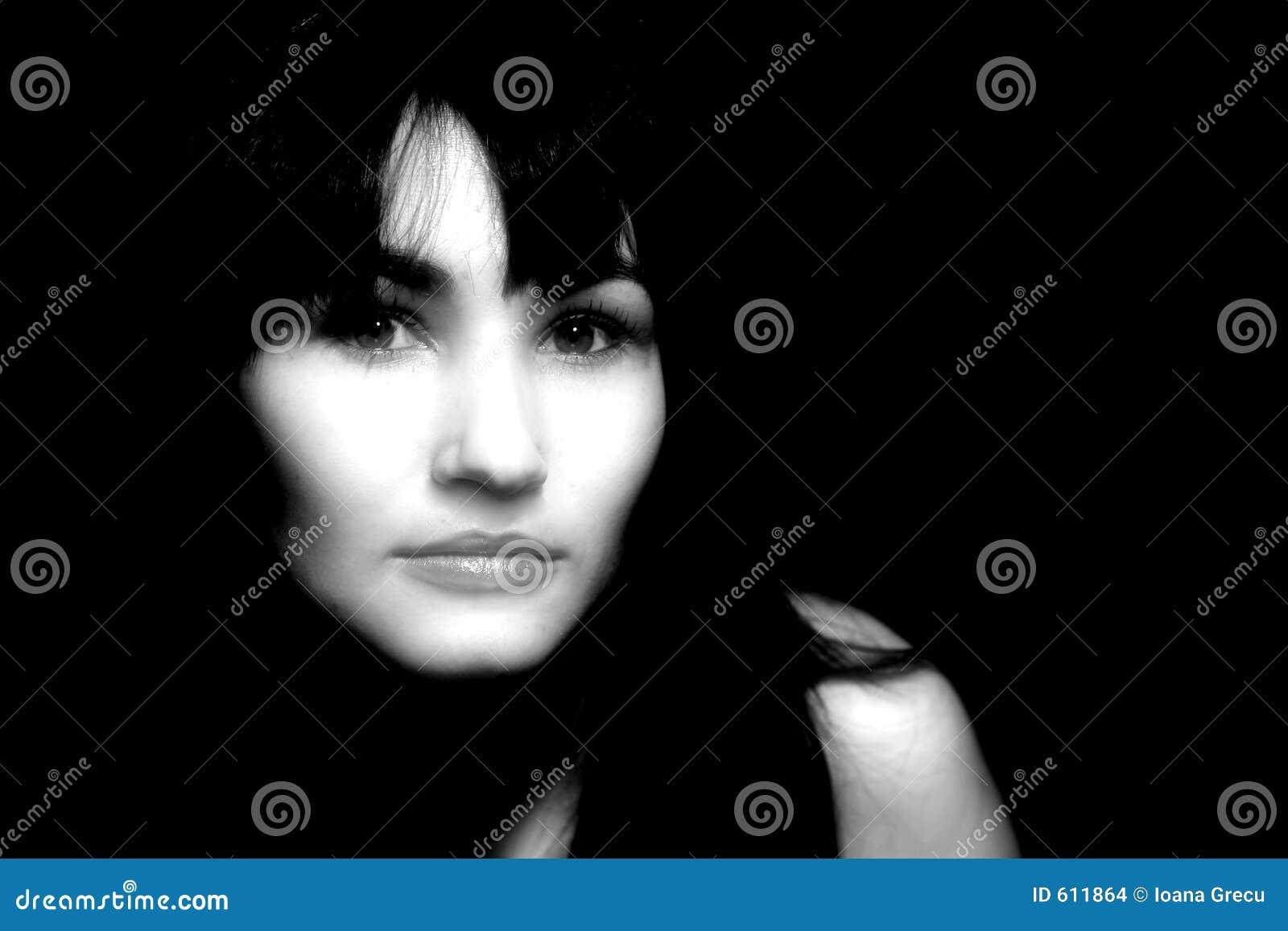 Portret in dark