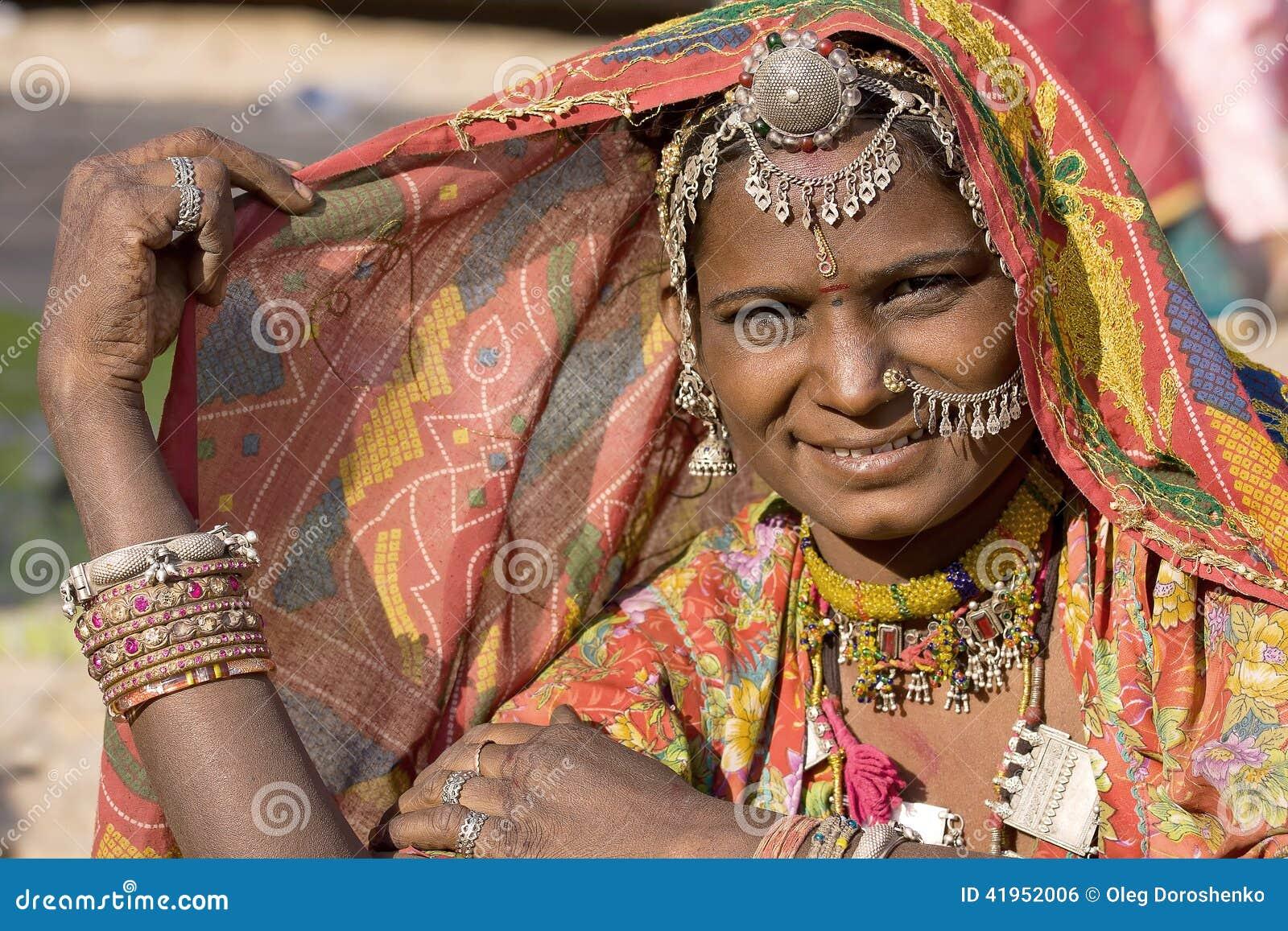 Portret India Rajasthani kobieta