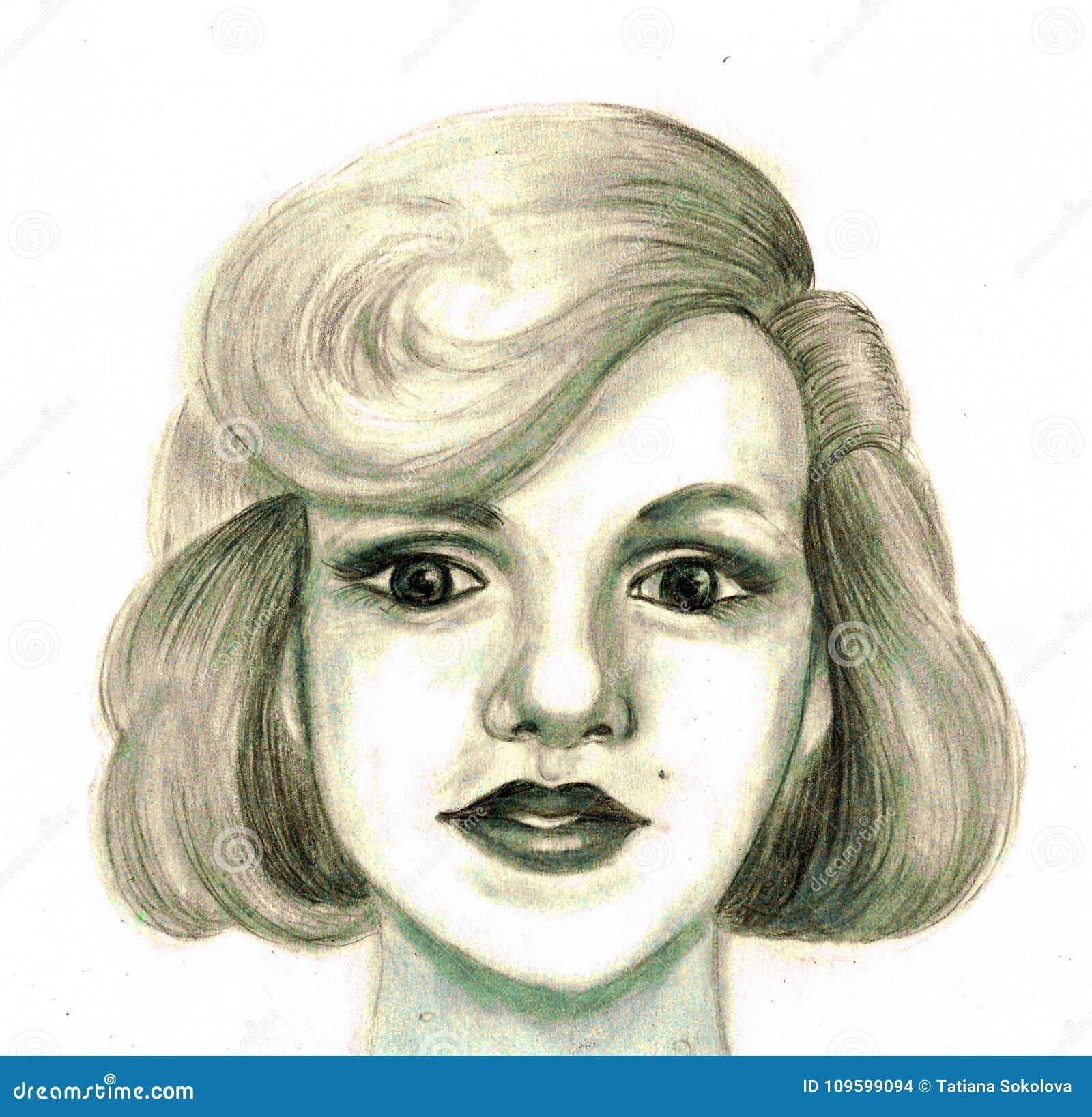 Portret kobieta patrzeje jak Marilyn Monroe