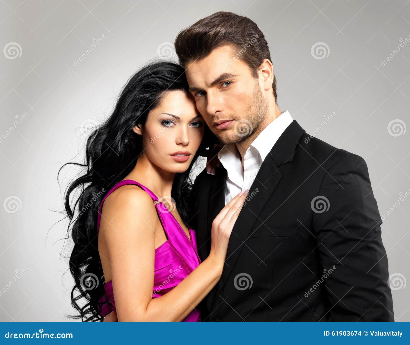 Portret Młoda piękna para w miłości